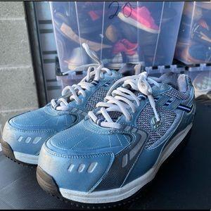 Skechers Blue/Silver Work Shoes Size 8.5